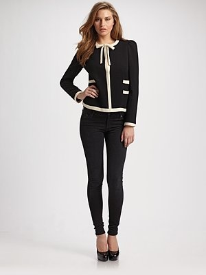 Milly - Marzia Bow Jacket - Saks.com    How did I fail to buy this when it was available???Bows Jackets, Department Stores, Preppy Chic, Jeans, Preppy Edging, Millie Marzia, Marzia Bows, Millie Wool, Gotta Stay