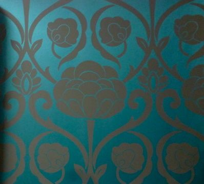 Shop - Oriana: Blue | Annandale Wallpapers
