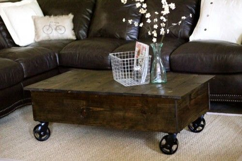 Crate Coffee Table. By 'Shanty to Chic': Restoration Hardware, Living Rooms, Photo Blocks, Home Projects, Crates Coffee Tables, Memorial Tables, Factories Carts, Memorial Carts, Industrial Coffee Tables