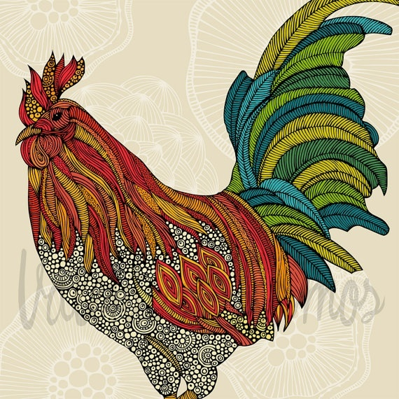 I love the colors and chickens ;)