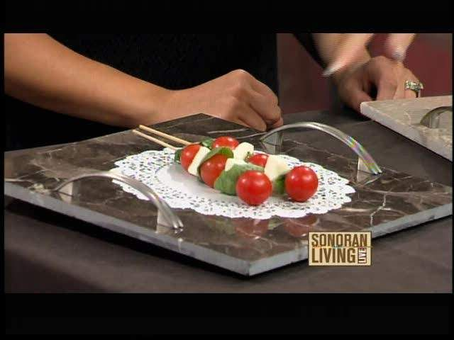 Turn Leftover Pieces Of Ceramic Or Marble Flooring Into A Serving Tray For Entertaining