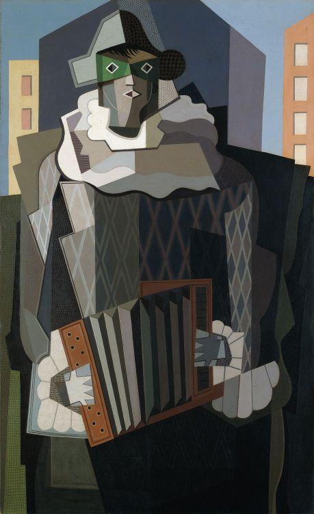 Arlequín (1928) Oleo sobre tela - - Emilio Pettoruti (Argentino 1892-1971) Museo Nacional de Bellas Artes de Buenos Aires