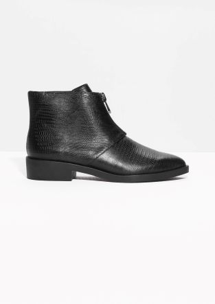 & Other Stories | Reptile-Embossed Ankle Boots