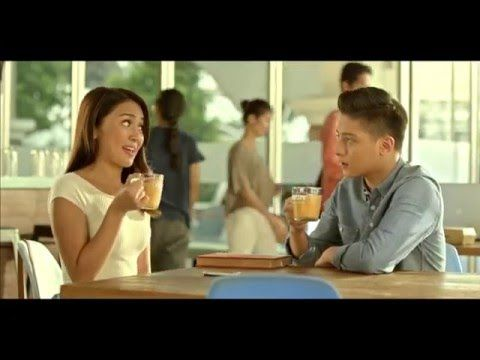 "This is the handsome Daniel Padilla and the pretty Kathryn Bernardo endorsing on Nescafe Creamy White last 2015. ""Our milkiest ever, nasa twin pack na!"" :-) #DanielPadilla #KathrynBernardo #KathNiel #NescafeCreamyWhite"