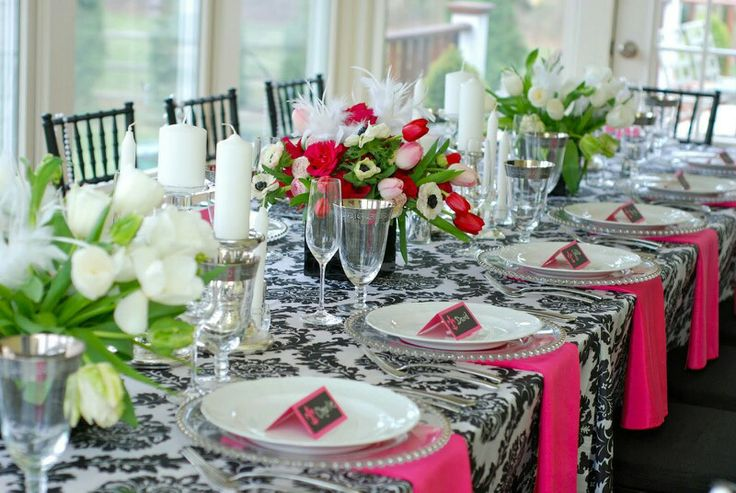 party table setting ideas