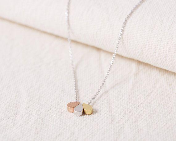 2016 جديد الأزياء والمجوهرات سيدة مزيج الذهب والفضة مطلية بالذهب كريستال اللون الدموع قلادة shinynecklace n060