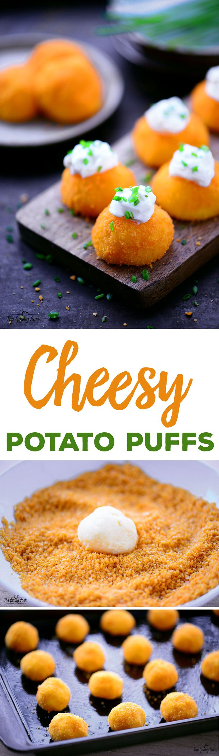 This Cheesy Potato Puffs recipe is a great holiday side dish or party appetizer. Crunchy cheese crackers coat these delicious, cheesy puffs of mashed potatoes.  #ad
