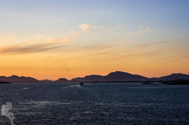 Sunset from the Hurtigruten  A day without long cycling tours and without getting lost can still be quite an adventurous day :)  Pentax K20D •1/60sec • f/8 •82mm •ISO 100 •smc Pentax-DA 18-55mm f3.5-5.6 AL WR