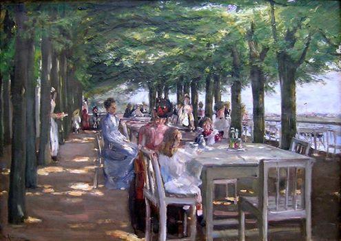 Max Liebermann (1847-1935) 1902 restoranlar teras, Elbe ' de Jacob