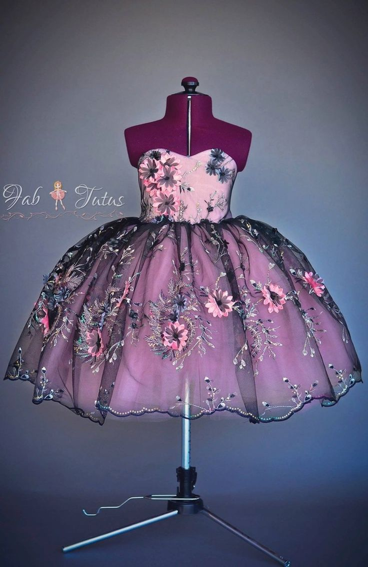 "FabTutus | Products | Flower Girl Dress | ""Shine On"" Collection - Dress in Black & Mauve"