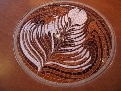 can someone make me a table inlaid with this mosaic? please?