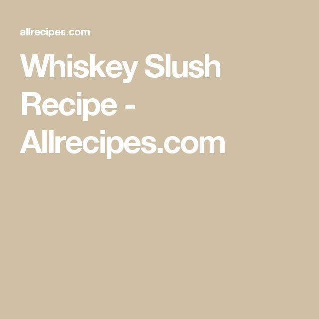 Whiskey Slush Recipe - Allrecipes.com