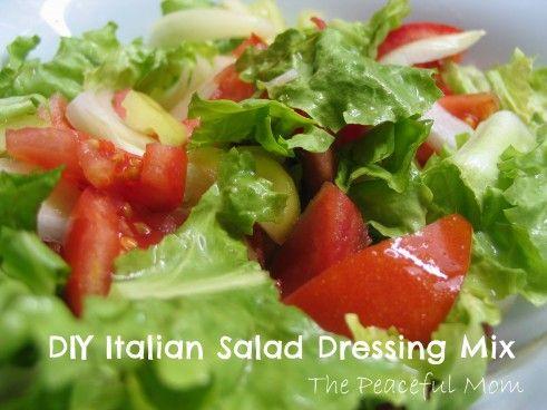 DIY Italian Salad Dressing--The Peaceful Mom