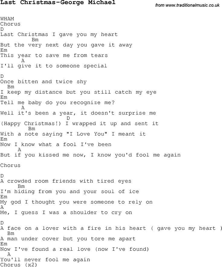 The 25+ best Last christmas lyrics ideas on Pinterest   Advent ...
