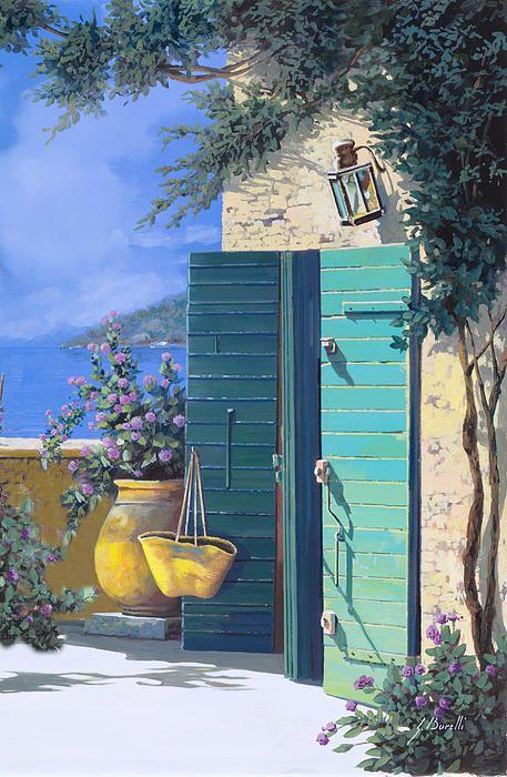 ღღ  La Porta Verde Painting - La Porta Verde Fine Art Print - Guido Borelli
