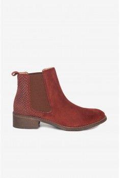 Boots élastiquées roux
