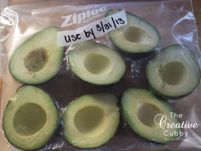 Freeze avocados! Just slice in half & remove pit. Wrap in plastic and freeze. Stock up while they are on sale and enjoy later!
