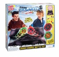 Beyblade Beywheelz Crash Course Battle Set Beyblade - Beywheelz - Crash Course Battle Set - with 2 EXCLUSIVE Battlers! - 37364 Launch them into races with the included exclusive Wheelz Launchers in the included Crash Course Beyarena stadium. Powered by Beyblade, the Crash Course Battle Set features 2 exclusive battlers. Comes with Pegasus Spirit Shield, Soaring Energy Core, and Wing Attack Gear parts. Soaring Wing Pegasus battler is a speed battler. For ages 8 & up.