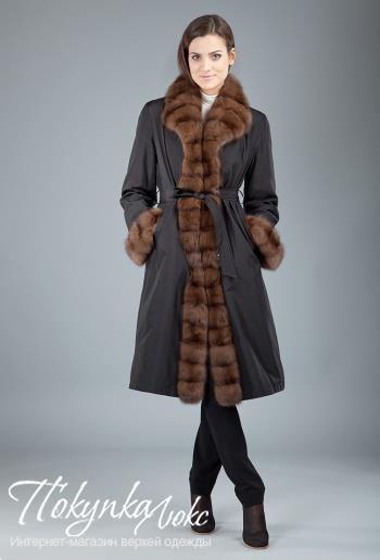 Женские зимние пальто на кролике