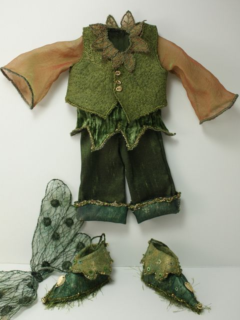 Moss Forest Fairy Outfit perfectly sized for wee fae