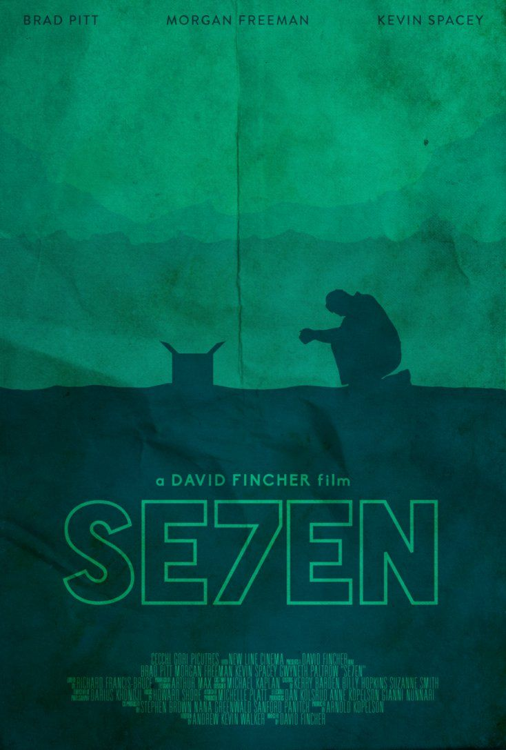 Se7en - minimal movie poster - Edward Julian Moran II