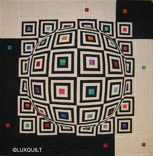 optical illusion quilts   the quilting is done....