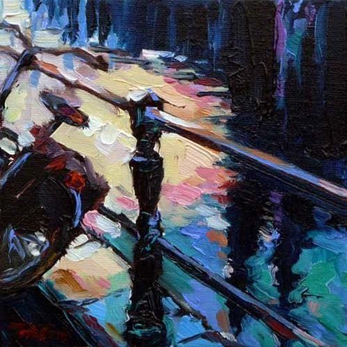 """Daily Paintworks - """"Die Grachten 11"""" by Jurij Frey"""