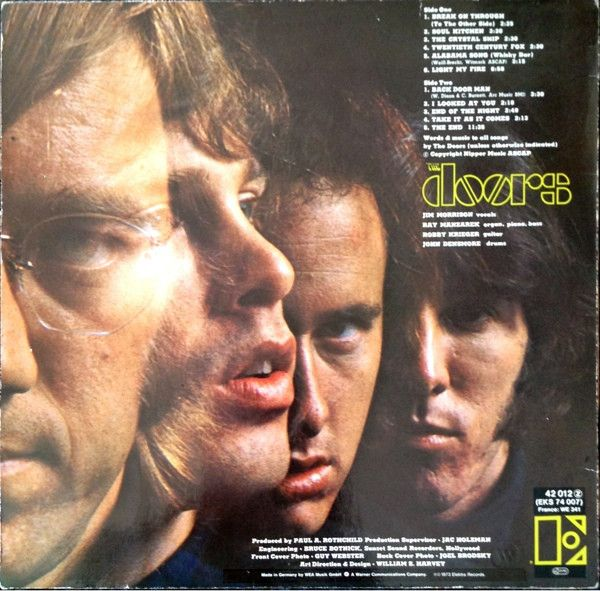 Release Details The breakthrough debut record by the Doors! Ranked #42 on Rolling Stone magazine's list of the 500 greatest albums ever. 2009 reissue on 180-gram vinyl with replica packaging. Descript