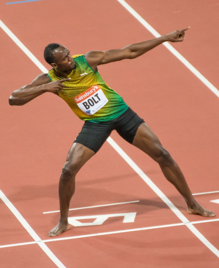 This is a picture of Usain Bolt a track star from Jamaica ...