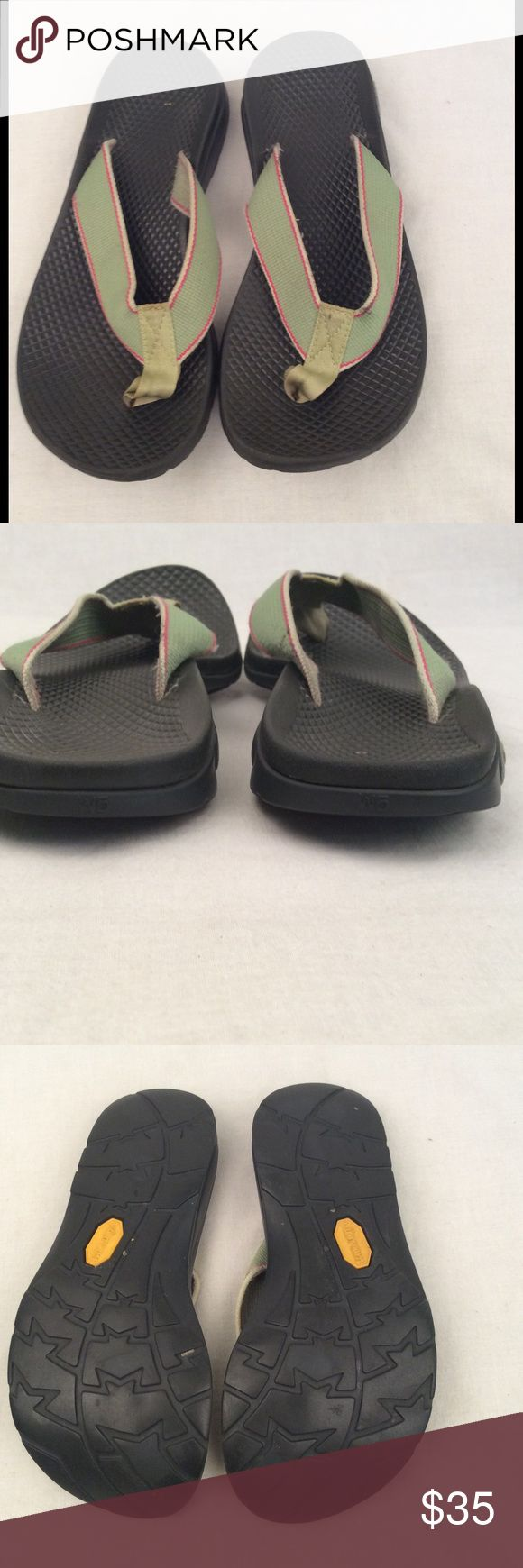 Women's Chaco Flip Flops Women's size 5 Chaco flip flops green outlined in pink, in excellent condition & comes from a smoke free home. ✅Reasonable offers considered  ✅Bundle for a discount & save on shipping  ✅Same/next day shipping Chaco Shoes Sandals
