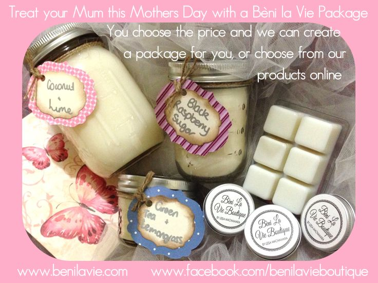 Spoil your Mum this Mothers Day! Isn't this a gorgeous selection of our most popular products! Contact us now to customise your Mums gift
