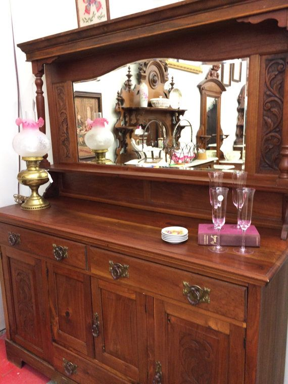 English Antique Sideboard  Antique Buffet  Mirrored Sideboard  Antique  Furniture  English Walnut  1900 s  Vintage Home Decor  Dining. Best 25  English antique furniture ideas on Pinterest   Parlour at