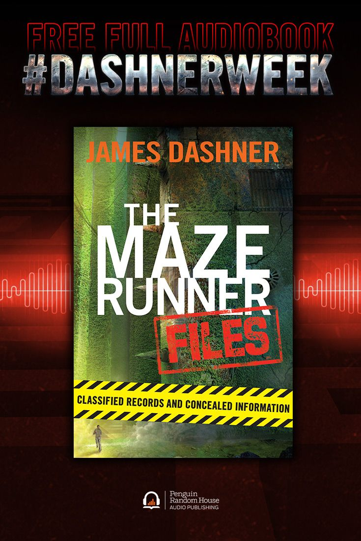 93 best listen to a good book today images on pinterest book celebrate dashnerweek with a free download of the maze runner files audiobook by james dashner fandeluxe Gallery