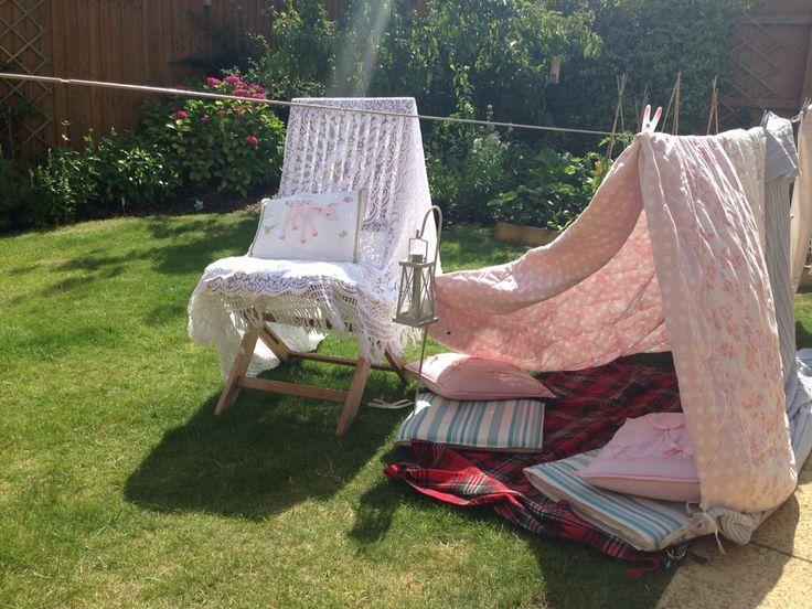 Beautiful garden washing line tent for my girls <3