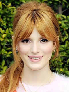 Long Haircuts for Oval Shaped Faces: Curtain Bangs, Bella Thorne