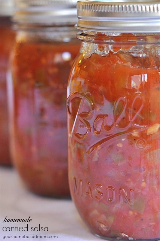 Homemade Canned Salsa Recipe...Perfect Way To Use up Your Summer Tomatoes!