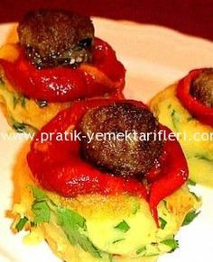 Patates Püresi Üzerine Köfte Tarifi  Pratik yemek tarifleri, resimli pratik yemek tarifleri ,oktay usta, kolay yemek tarifleri