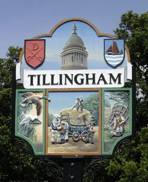 The Village Sign in Tillingham, Essex