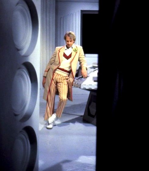 Peter Davison reclining between takes.  He was just plain beautiful wasn't he?  I think Georgia, in essence, married her father.  David Tennant and he have so many of the same mannerisms.