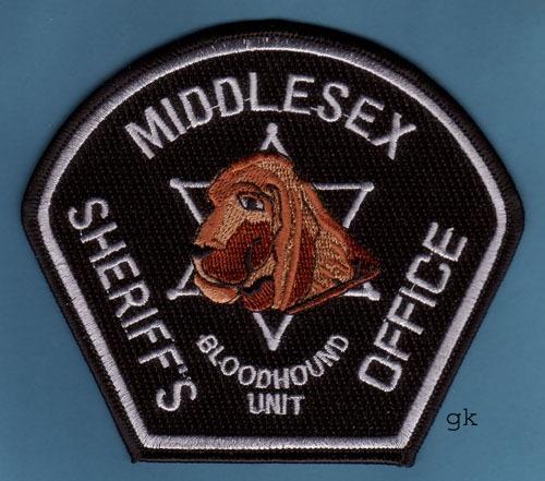 MIDDLESEX MA. SHERIFF BLOODHOUND K9 POLICE PATCH | eBay