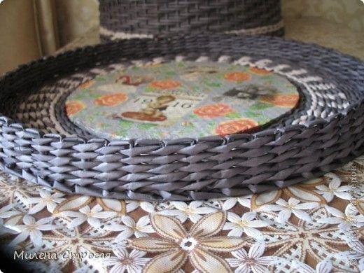 Мастер-класс Декупаж Плетение Шляпная коробка Бумага газетная Салфетки фото 11