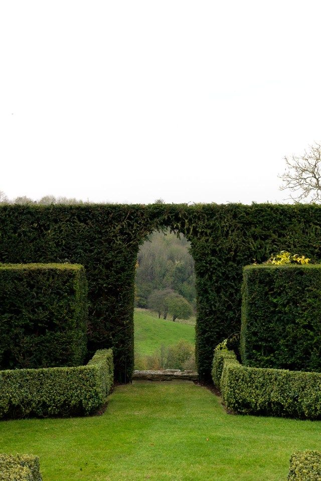 Simple greenery. Love what the English can do with it! Great focal point in the landscape.