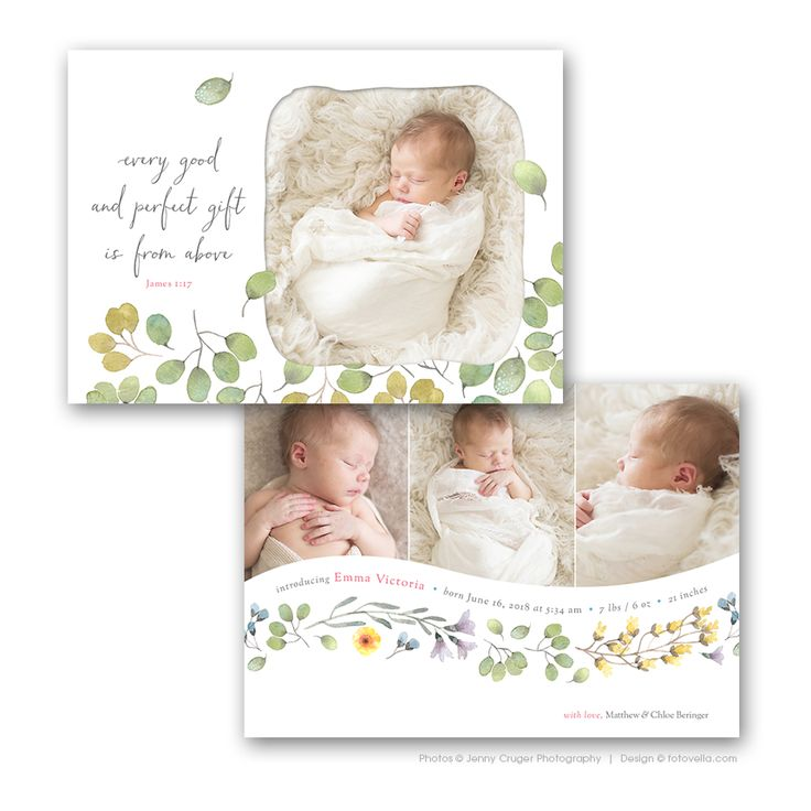 Birth Announcement Templates: 10+ handpicked ideas to ...