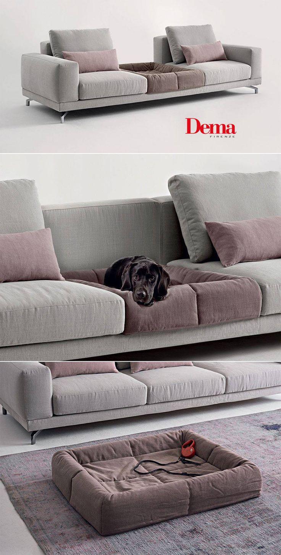 E lui, non ha diritto al suo posto accanto a noi? Ecco Pet's Bed, pensato per inserirsi perfettamente nel divano modulare Dude. Doesn't he deserve a place of his own next to us? Dema thinks so, and has designed a #pet bed that fits in perfectly with the modular Dude sofa.
