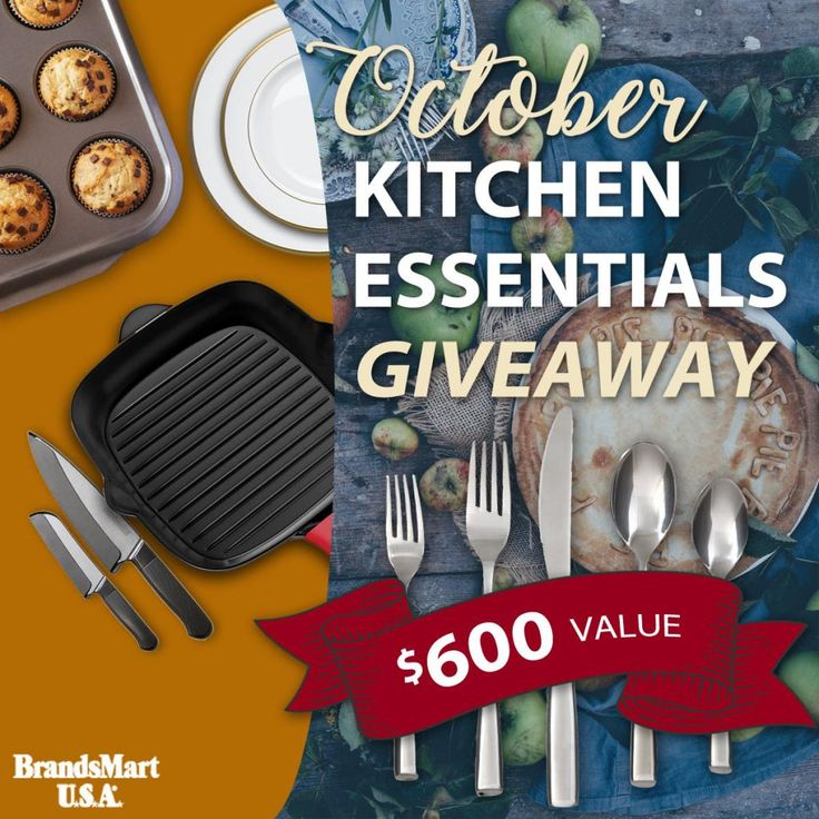 Enter with BrandsMart USA to win prizes including knife sets, glassware, silverware and more. $600 in Prizes!