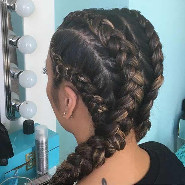 Trendy Geflochtene Frisuren