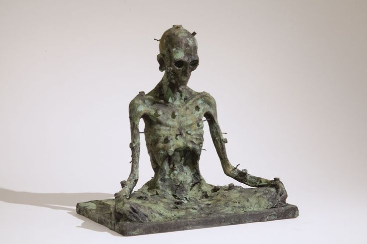Untitled (After Grünewald)  Patinated bronze, 27,5x27x17,8cm by Miguel Branco