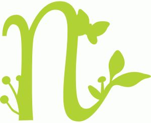 Silhouette Online Store - View Design #58962: spring letter n
