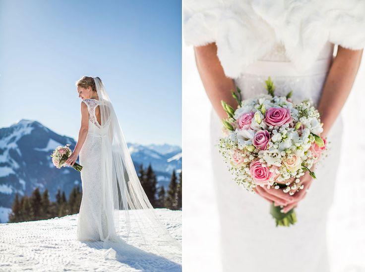 Hochzeitsfotografie Österreich Tyrol. Hochzeitsfotograf Dario Endara Heirat in schnee. Winter wedding in Austria by Dario Endara Wedding Photography