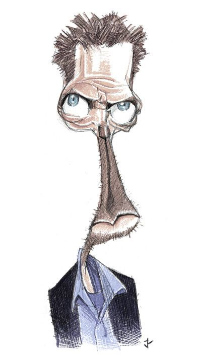 Incredibly Accurate Celebrity Caricatures, House.